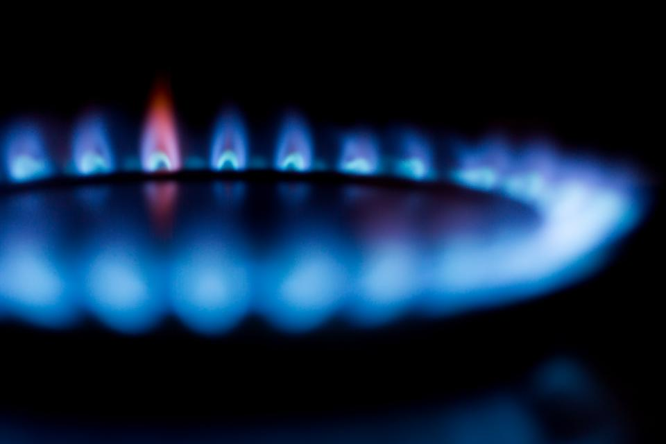 A natural gas burner
