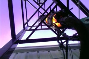 A flare at the Frontline pilot facilities.