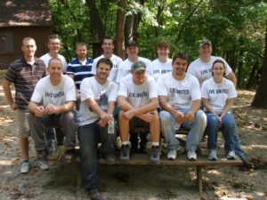 Frontline's team participating in the United Day of Caring.