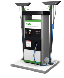 A compressed natural gas dispenser