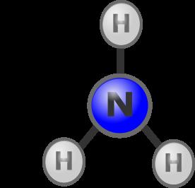 An ammonia molecule
