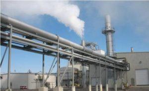 An industrial boiler