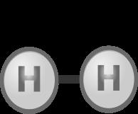 A hydrogen molecule