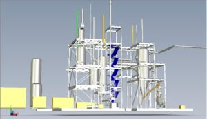 A model of a gasification project.
