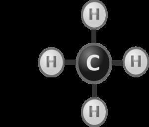 A natural gas molecule